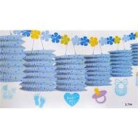 Parti Şöleni Baby Shower Sıralı Fener Mavi