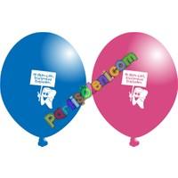 Parti Şöleni Diş Baskılı Balon 20 Adet
