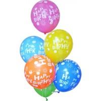 Parti Şöleni Happy Birthday Baskılı Balon 20 Adet