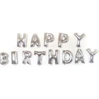 Parti Şöleni Happy Birthday Harf Folyo Balon + Balon Pompası
