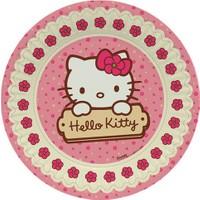 Parti Şöleni Hello Kitty Tabak 8 Adet