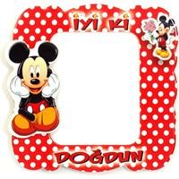 Parti Şöleni Mickey Mouse Magnet Çerçeve