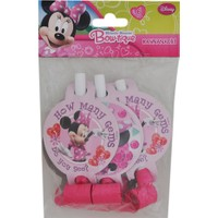 Parti Şöleni Minnie Mouse Düdük 6 Adet