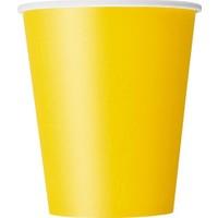 Parti Şöleni Sarı Karton Bardak 8 Adet