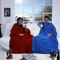 Helen's Giyilebilir Kollu Polar Battaniye-Mavi