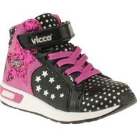 Vicco 313Y107 Tek Cırt Konçlu Siyah Çocuk Spor Ayakkabı