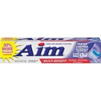 Aim Whitening Tartar Control Plus Mouthwash and Whitening Cool Mint Gel Multi Benefit