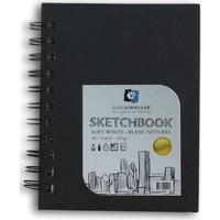 Alex Schoeller Siyah Notebook Defter Yandan Siprelli A5 120 gr. 60 Yaprak