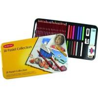 Derwent Pastel Collection Pastel Koleksiyonu 38'li Teneke Kutu