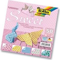 Folia Origami Kağıdı 5 Desen 50 Adet Kağıt Sweet 20 X 20 cm