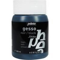 Pebeo Acrylic Gesso Studio Siyah Astar Boya 500 ml.