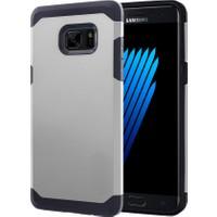 Microsonic Samsung Galaxy Note 7 Kılıf Slim Fit Dual Layer Armor Gümüş