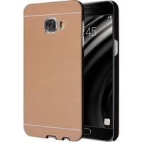 Microsonic Samsung Galaxy C5 Kılıf Hybrid Metal Gold