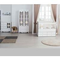 Aymini Eliza Mini Mdf Bebek Odası Beyaz