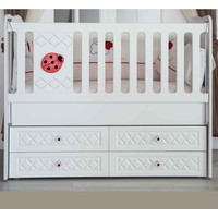 Aymini Uğurcuk Eco Bebek Odası Beşik Beyaz