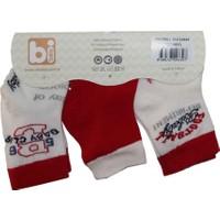 Bibaby 68075 Futbol 3 Lü Çorap Kırmızı