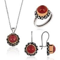 Tekbir Silver Gümüş Otantik Ruby Set