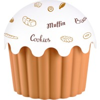 Aroni Cupe Cake Saklama Kabı - Kahve 1200 Ml
