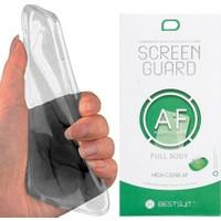 Exclusive Phone Case General Mobile Gm5 Plus Kılıf Silikon Siyah+ Kavisli Ekran Filmi