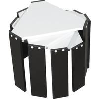 EvdemoAe-1036 Vezir Zigon Sehpa Siyah-Beyaz