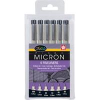 Sakura PO(XSDK-6) Pigma Mikron 6'lı Set Çizim Kalemi