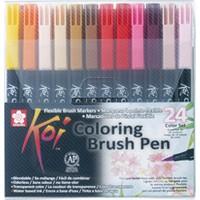 Sakura Koı Colour Fırça Uçlu Kalem 24'Lü Set Bxbr-24