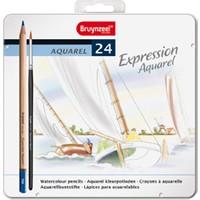 Bruynzeel Expression Aquarell Boya Metal Kutu 24 Renk