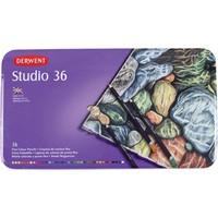 Derwent Studio Pencils Kuruboya Kalemi Teneke Kutu 36 Renk