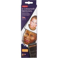 Derwent Coloursoft Pencils Skintones Yumuşak Kuruboya Kalemi Ten Renkleri 6'Lı