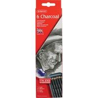 Derwent Charcoal Pencils Kömür - Füzen Kalem Seti Teneke Kutu 6'Lı