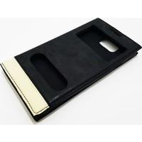 Magnum Samsung Galaxy Alpha Magnum Kapaklı Pencereli Siyah Kılıf