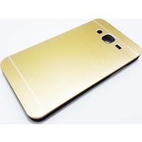 Motomo Samsung Galaxy J5 Motomo Gold Metal Kılıf