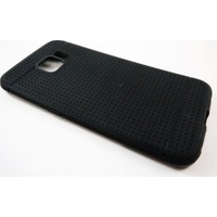 Mobillife Samsung Galaxy S6 Edge Noktalı Siyah Silikon Kılıf