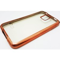 Mobillife Samsung Galaxy S5 Bronz Kenar Şeffaf Silikon Kılıf
