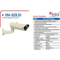 "X5 Tech Ym-Bzk20 1-3"" Cmos 2.0Mp 4Mm Lens 48Led"