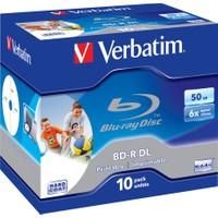 Verbatım 43736 Blu-Ray Bd-R Dl 50Gb 6X 10Lu Prınta