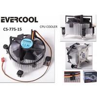 Evercool Cs-775-15 775 Pin Aliminyum Cpu Fanı