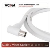 Vcom Cv601R 1.5Mt Analog Beyaz Tv Kablosu