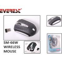 Everest Sm-66W Su Desenli Siyah Kablosuz Mouse