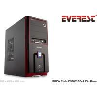 Everest 302A 250W Peak Siyah-Kırmızı Kasa