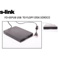 S-Lınk Fd-05Pub Siyah Usb Harici Floppy Disket