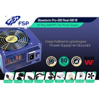 Fsp Pro-500 500W 80+ (Plus) Aktif 12Cm Power