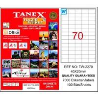 Tanex Tw-2270 40 Mm X 20 Mm 100 Sayfa Lazer