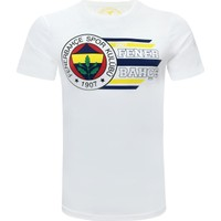 Fenerium Erkek Tribün Dinamik Çizgili Logo T-Shirt