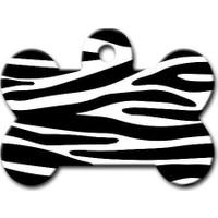 Dalis Pet Tag - Zebra Desenli Kemik Köpek Künyesi
