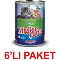 Miglior Gatto Tavşanli Kedi Konservesi 405 Gr (6'li Paket)