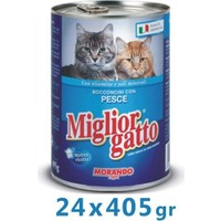 Miglior Gatto Balıkli Kedi Konservesi 405 Gr (24 Adet)