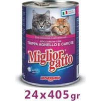 Miglior Gatto Kuzu Işkembe Ve Havuçlu Kedi Konservesi 405 Gr (24 Adet)