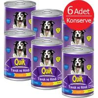 Quik Tavuk Hindi Konserve Köpek Maması 415 Gr (6 Adet)
