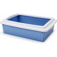 Stefanplast Cat Litter Tray Açık Kedi Tuvaleti Mavi 40X30X10 Cm